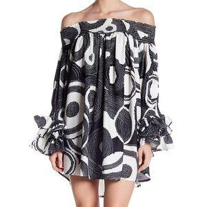 Garcia Off the Shoulder Ruffle Sleeve Mini Dress